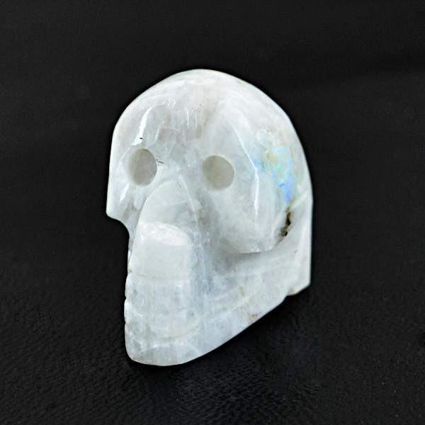 gemsmore:Natural Blue Flash Moonstone Gemstone Skull