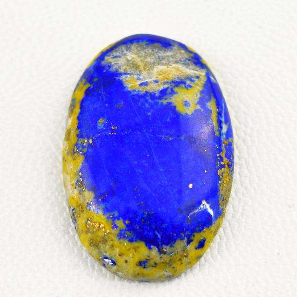 gemsmore:Natural Blue Lapis Lazuli Oval Shape Loose Gemstone