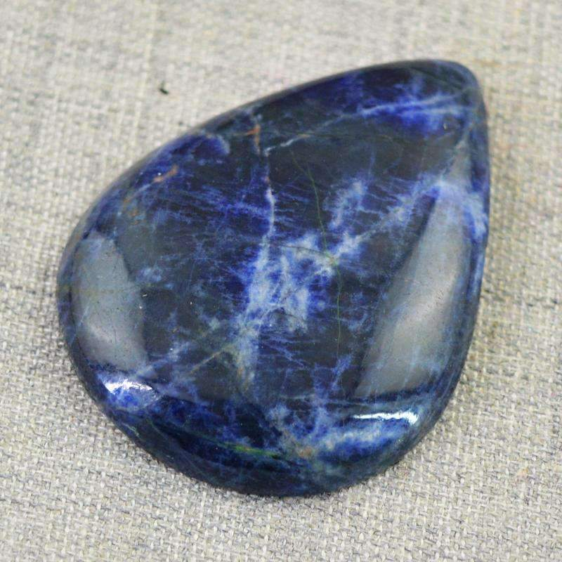 gemsmore:Natural Blue Sodalite Gemstone - Pear Shape