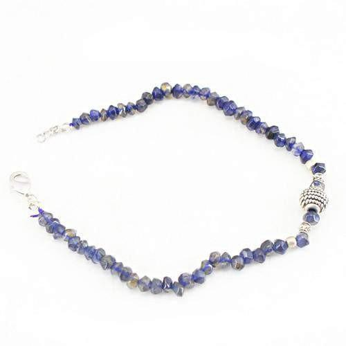 gemsmore:Natural Blue Tanzanite Attractive Beads Bracelet