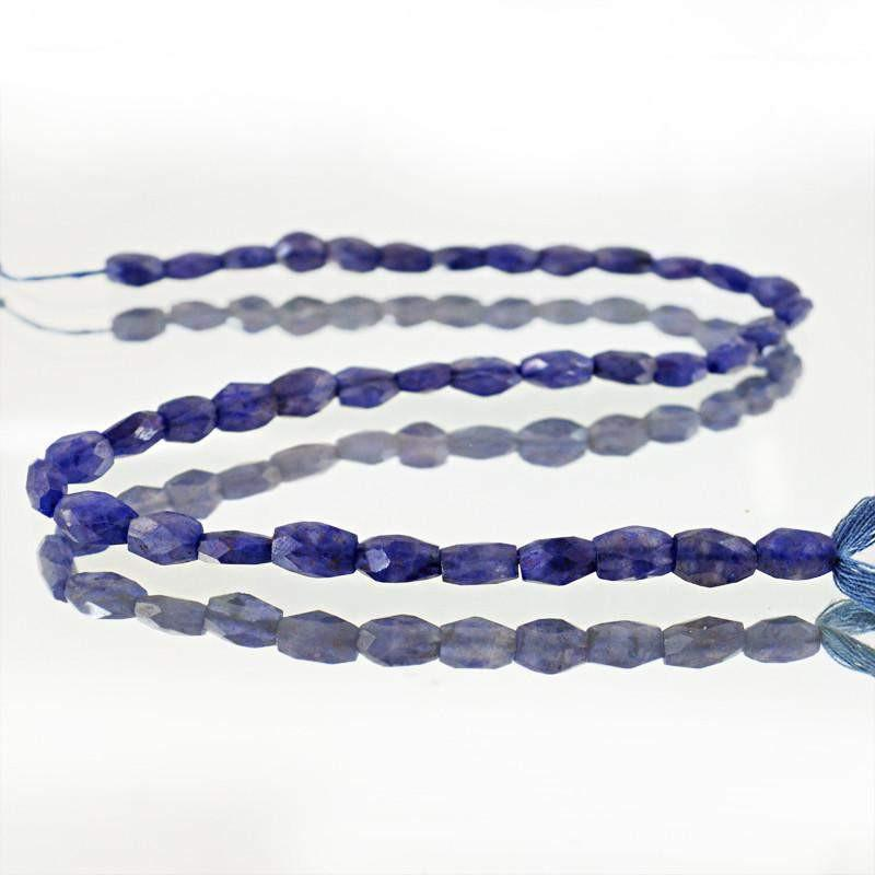gemsmore:Natural Blue Tanzanite Faceted Beads Strand