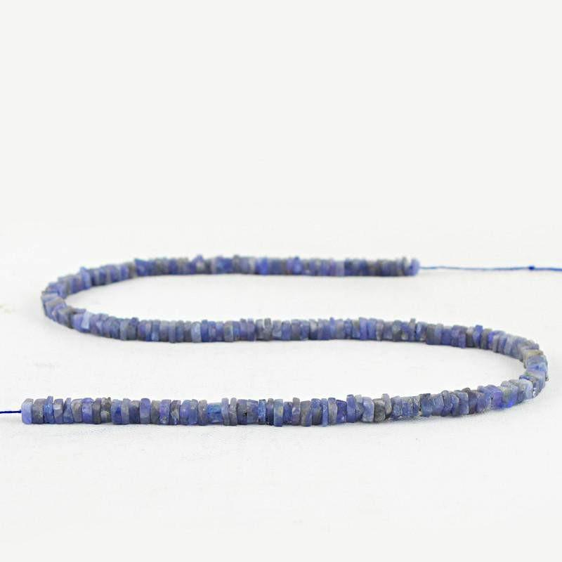 gemsmore:Natural Blue Tanzanite Untreated Beads Strand