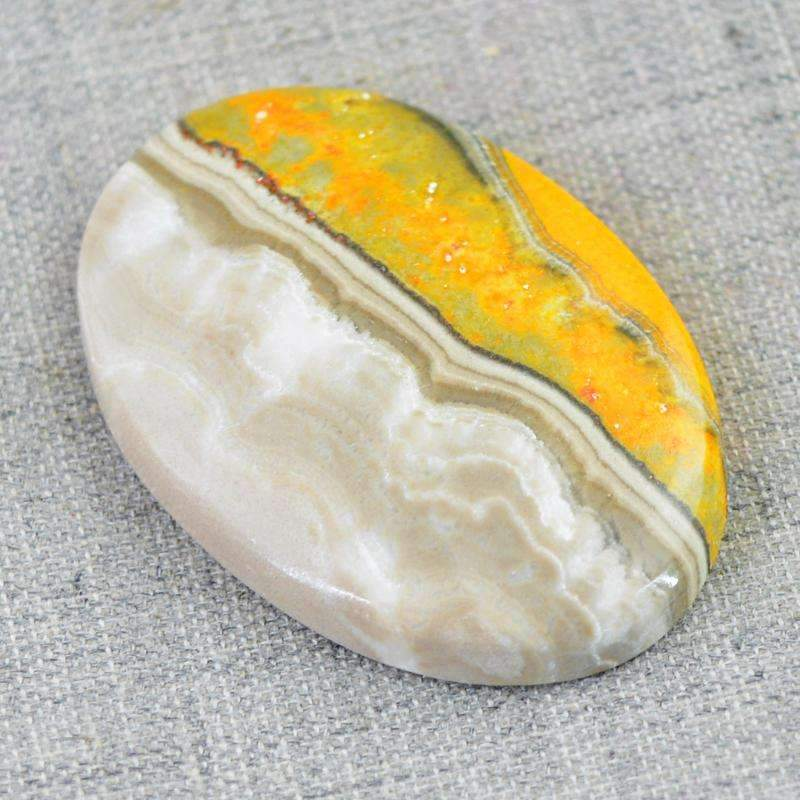 gemsmore:Natural Bumble Bee Jasper Gemstone - Oval Shape