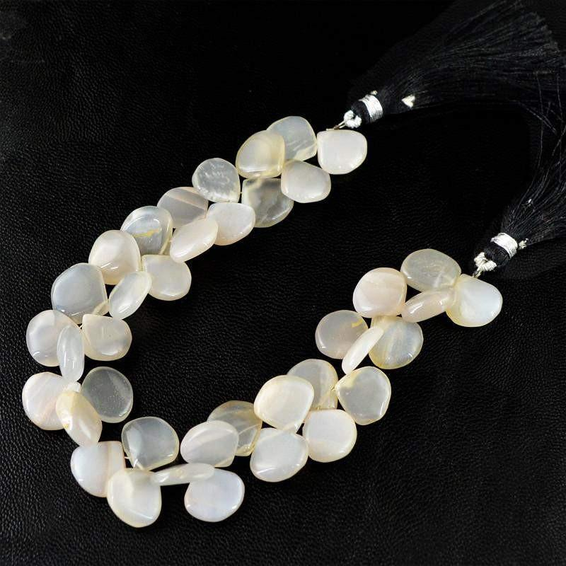 gemsmore:Natural Drilled Agate Untreated Beads Strand