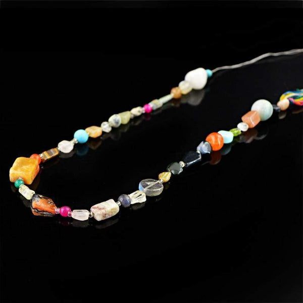 gemsmore:Natural Drilled Multicolor Multi Gemstone Beads Strand