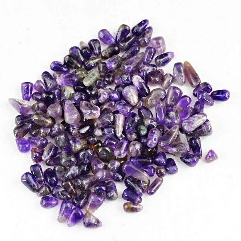 gemsmore:Natural Drilled Purple Amethyst Beads Lot