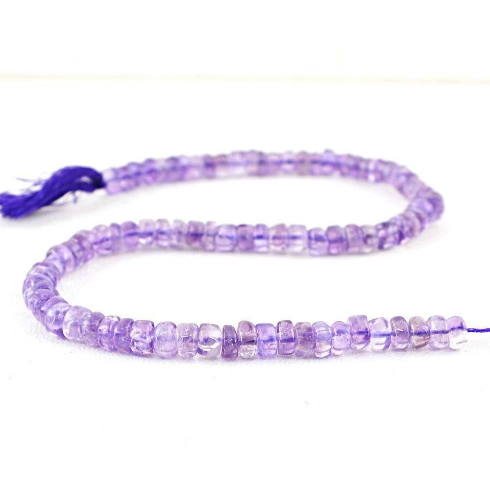 gemsmore:Natural Drilled Purple Amethyst Beads Strand