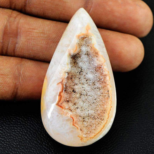 gemsmore:Natural Druzy Onyx Gemstone - Pear Shape