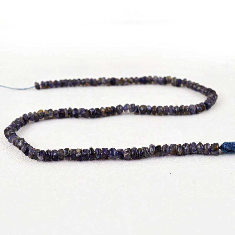 gemsmore:Natural Faceted Blue Tanzanite Beads Strand