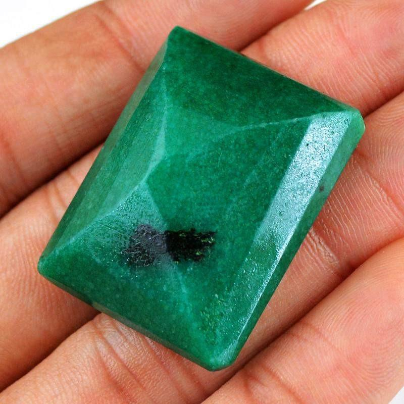 gemsmore:Natural Faceted Green Emerald Gem