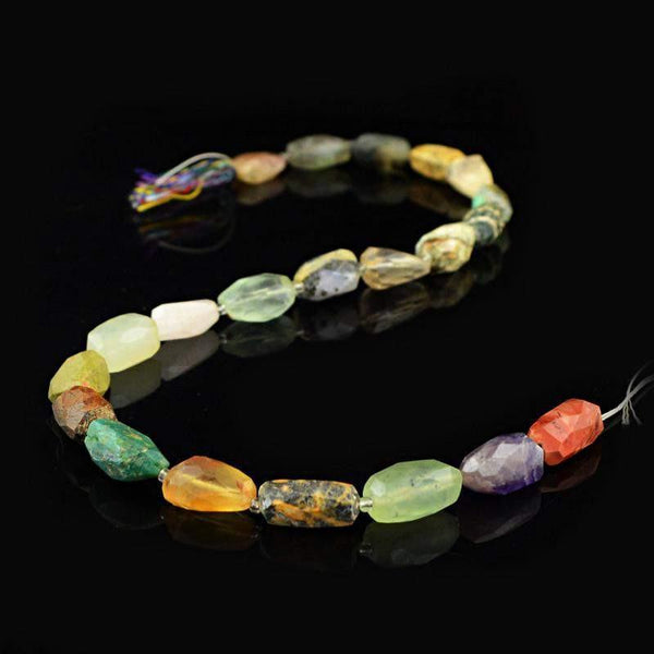 gemsmore:Natural Faceted Multi Gemstone Beads Strand