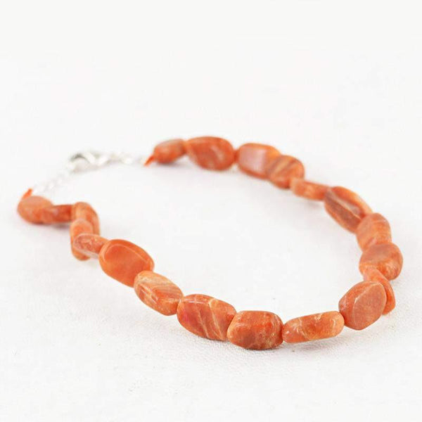 gemsmore:Natural Genuine Jasper Bracelet Oval Shape Untreated Beads