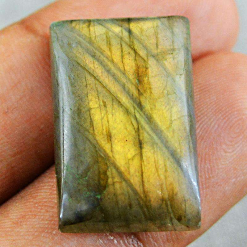 gemsmore:Natural Golden Flash Labradorite Gemstone Rectangular Shape