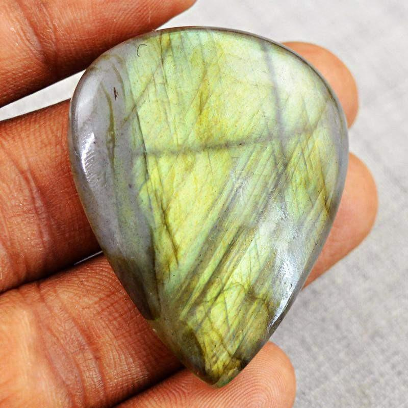 gemsmore:Natural Golden Flash Labradorite Pear Shape Gemstone