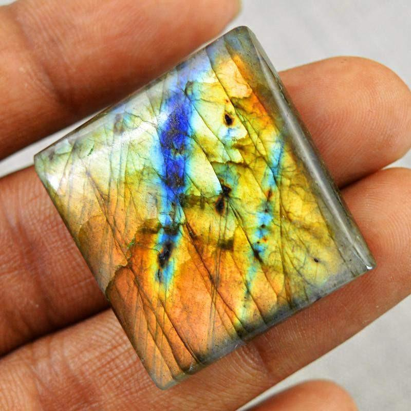 gemsmore:Natural Golden Flash Untreated Labradorite Gemstone