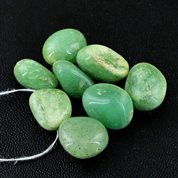 gemsmore:Natural Green Aquamarine Beads Lot - Drilled