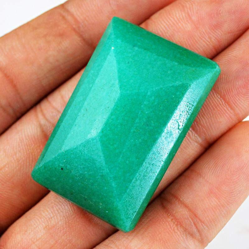 gemsmore:Natural Green Emerald Faceted Gemstone