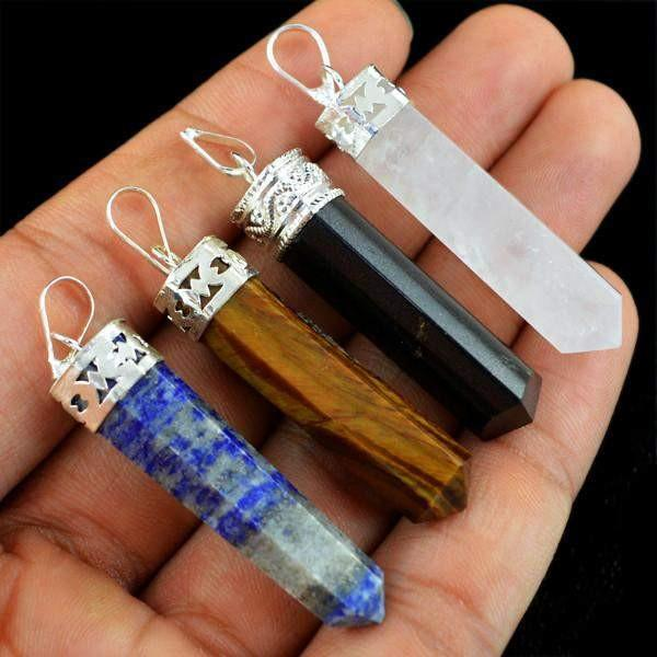 gemsmore:Natural Healing Point Pendant Lot