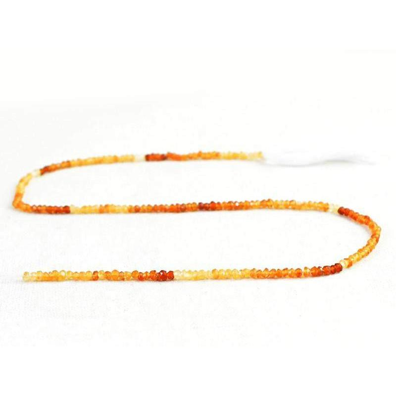 gemsmore:Natural Hessonite Garnet Faceted Beads Strand