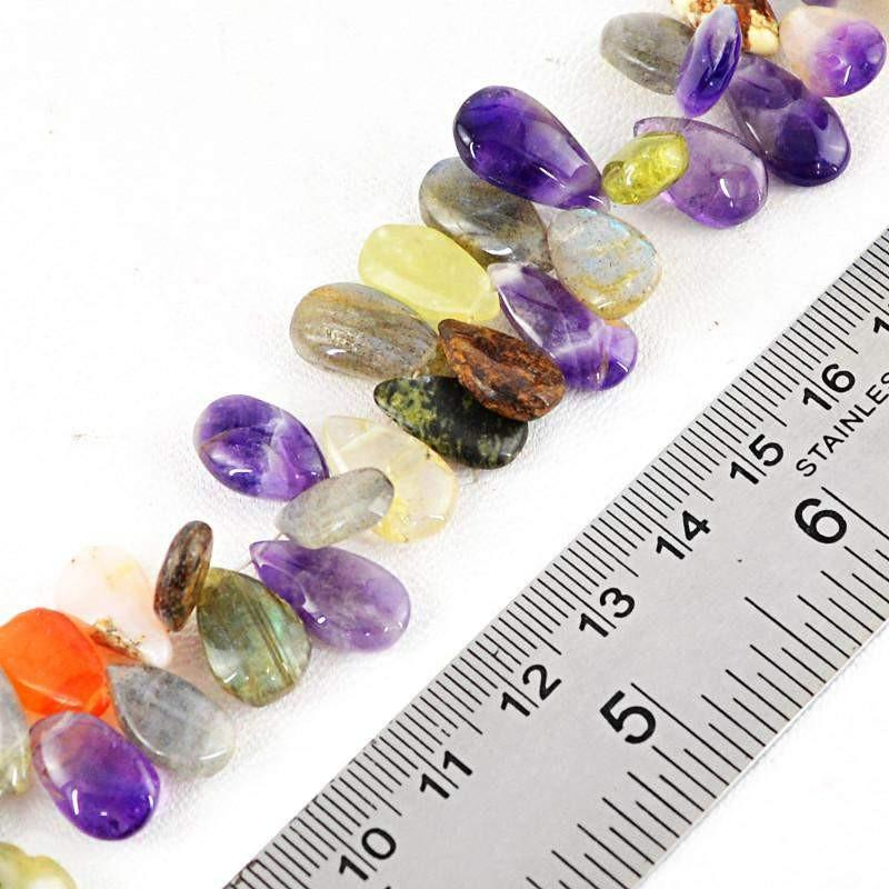 gemsmore:Natural Multi Gemstone Untreated Beads Strand