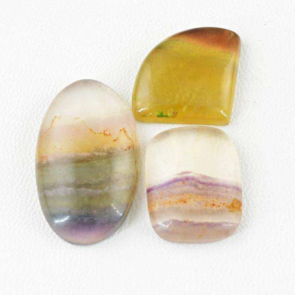 gemsmore:Natural MultiColor Fluorite Untreated Loose Gemstone