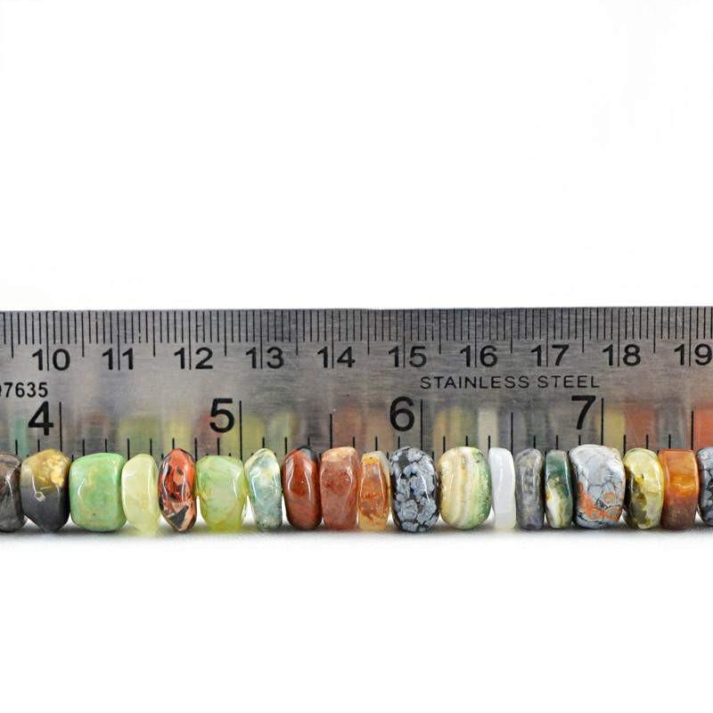 gemsmore:Natural Multicolor Multi Gemstone Drilled Beads Strand