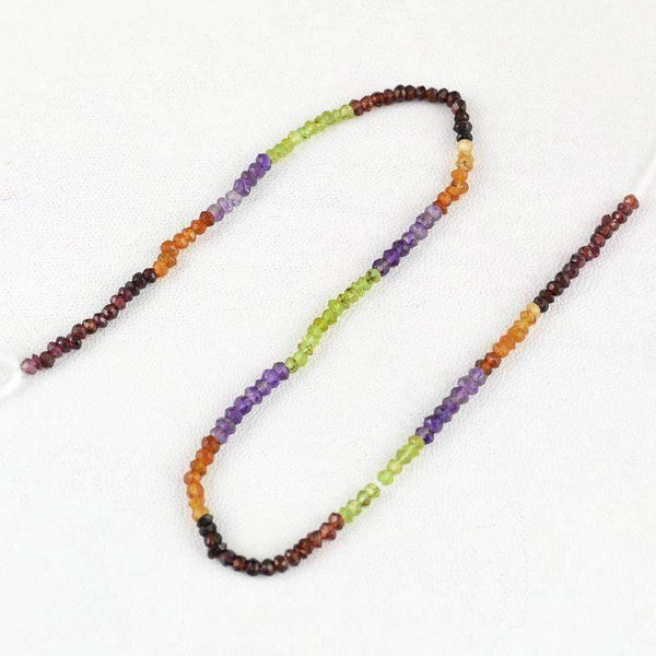 gemsmore:Natural Multicolor Multi Gemstone Drilled Round Cut Beads Strand