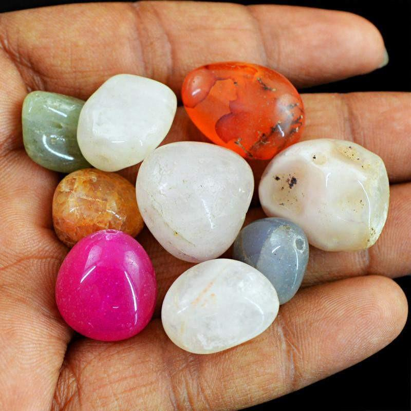 gemsmore:Natural Multicolor Multi Gemstone Untreated Beads Lot