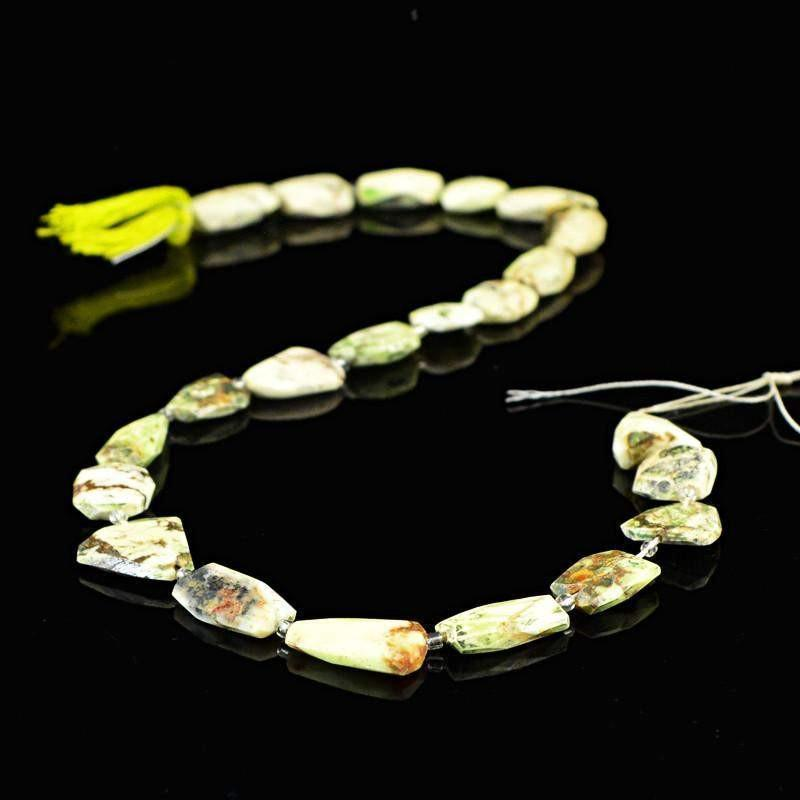 gemsmore:Natural Picasso Jasper Faceted Beads Strand