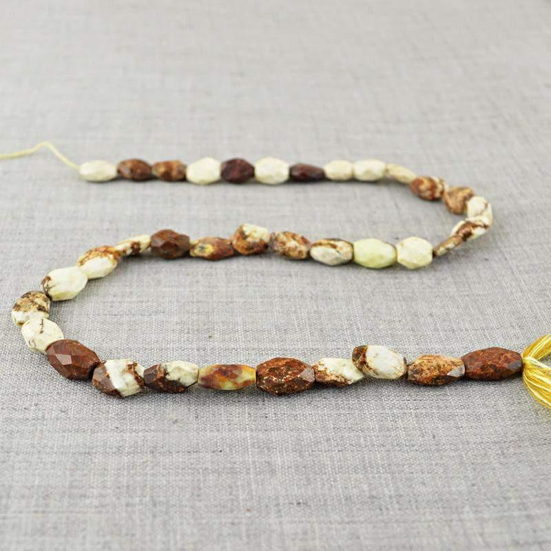 gemsmore:Natural Picasso Jasper Untreated Beads Strand