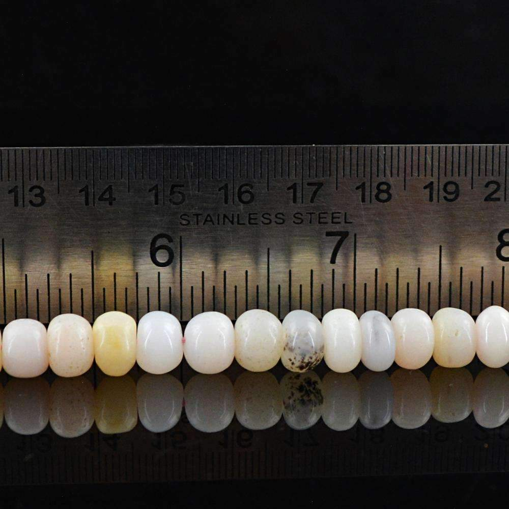 gemsmore:Natural Pink Australian Opal Beads Strand Round Shape Drilled