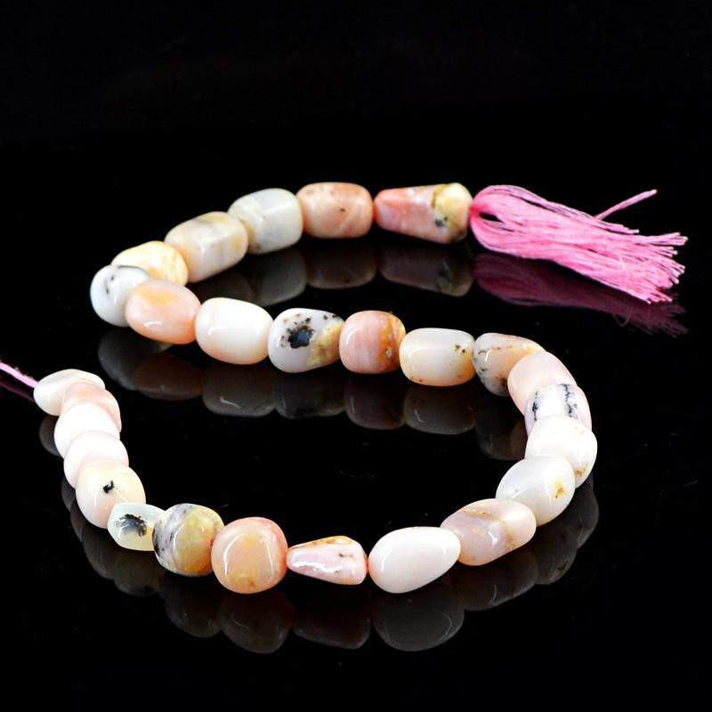gemsmore:Natural Pink Australian Opal Drilled Beads Strand