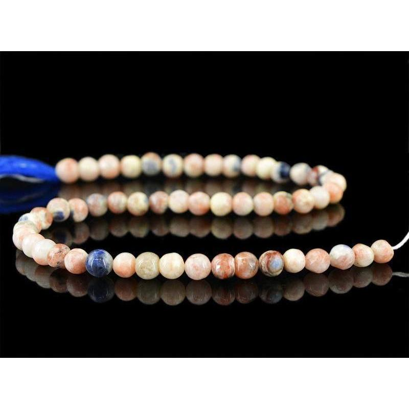 gemsmore:Natural Pink Australian Opal Untreated Beads Strand