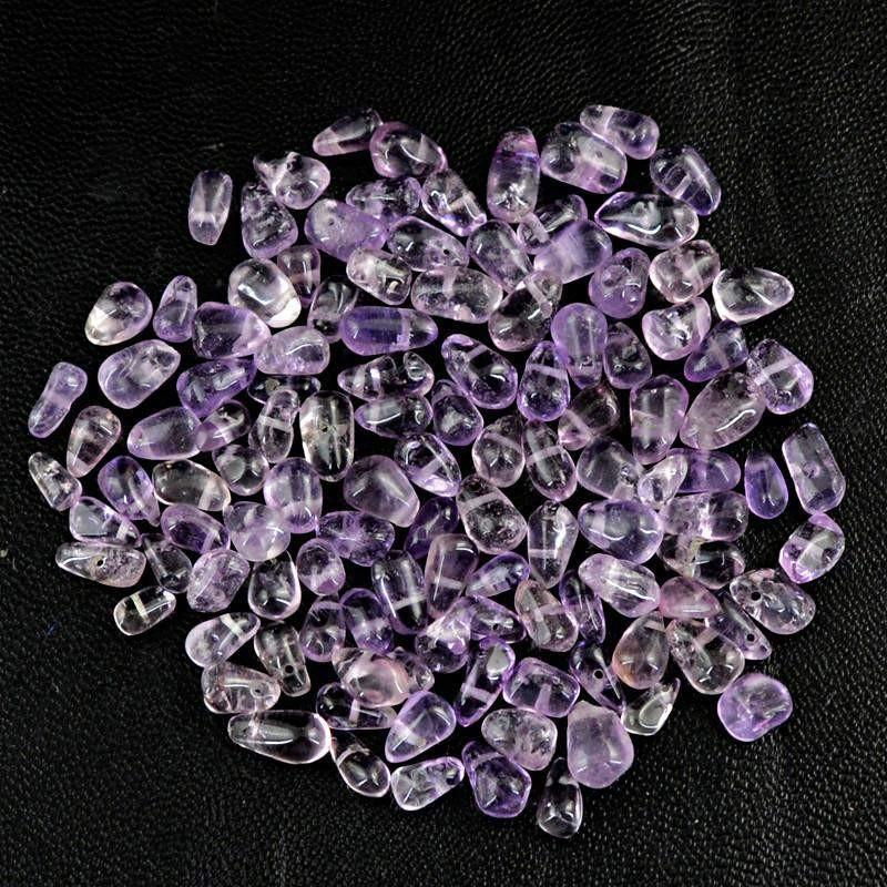 gemsmore:Natural Purple Amethyst Drilled Beads Lot
