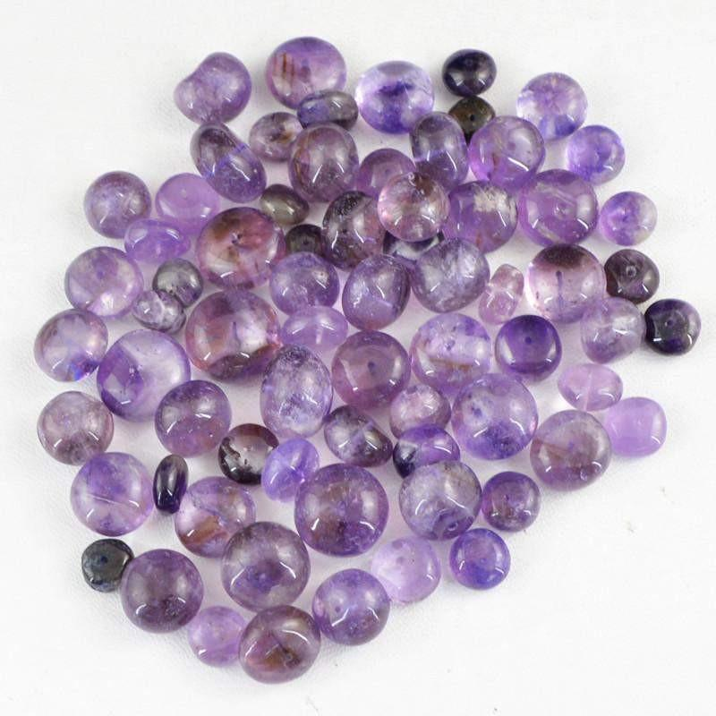 gemsmore:Natural Purple Amethyst Round Drilled Beads Lot
