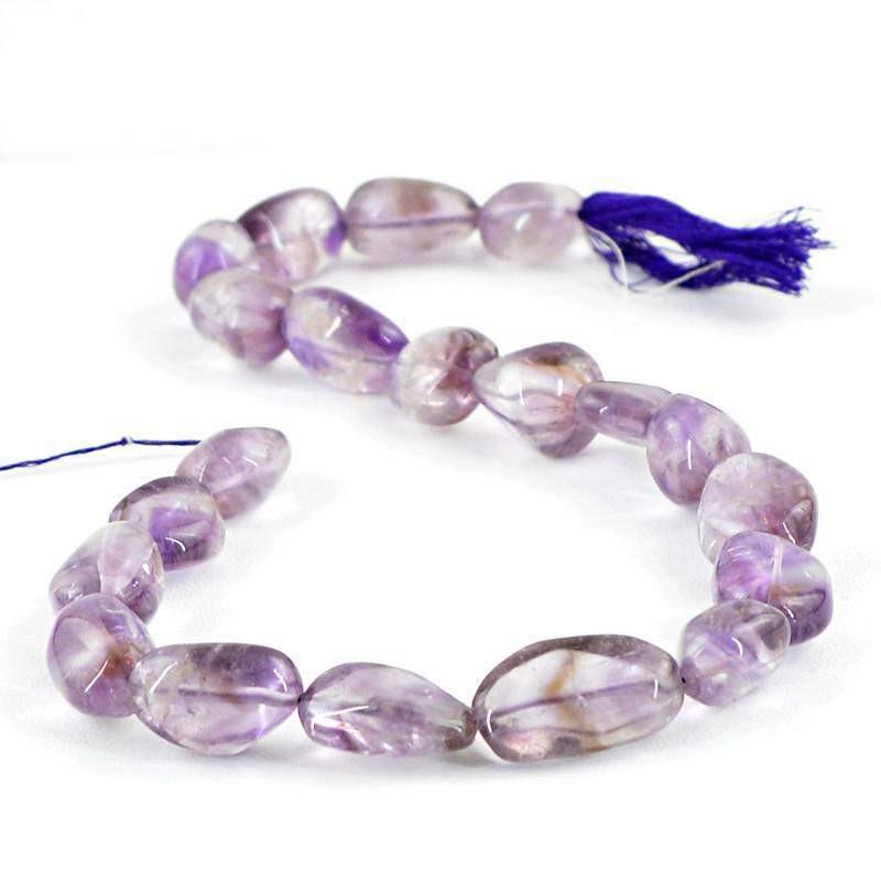 gemsmore:Natural Purple Amethyst Untreated Beads Strand