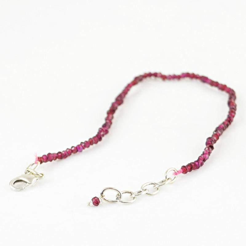 gemsmore:Natural Red Garnet Bracelet Faceted Round Shape Beads