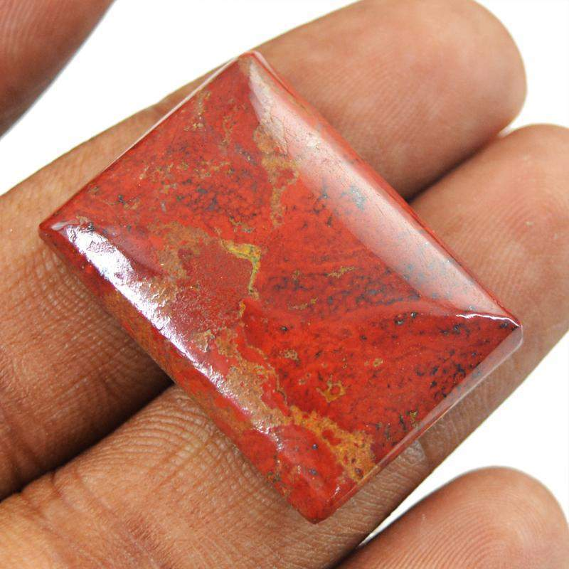 gemsmore:Natural Red Jasper Rectangular Shape Loose Gemstone