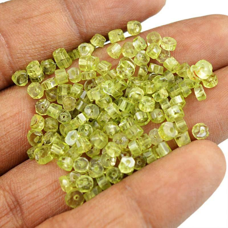 gemsmore:Natural Round Shape Peridot Gemstone Beads Lot