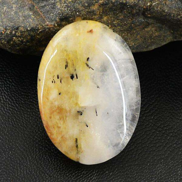gemsmore:Natural Rutile Quartz Oval Shape Loose Gemstone