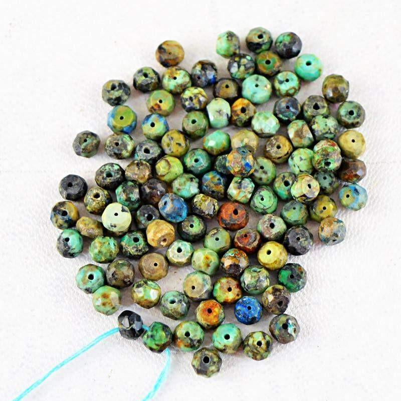 gemsmore:Natural Turquoise Drilled Beads Lot