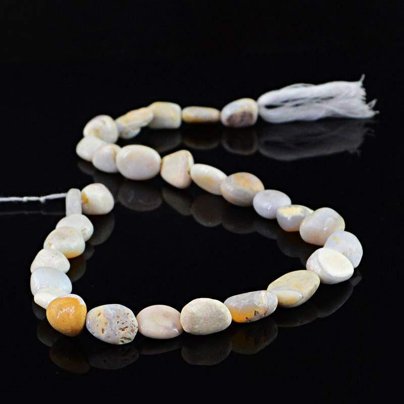 gemsmore:Natural Unheated Australian Opal Beads Strand