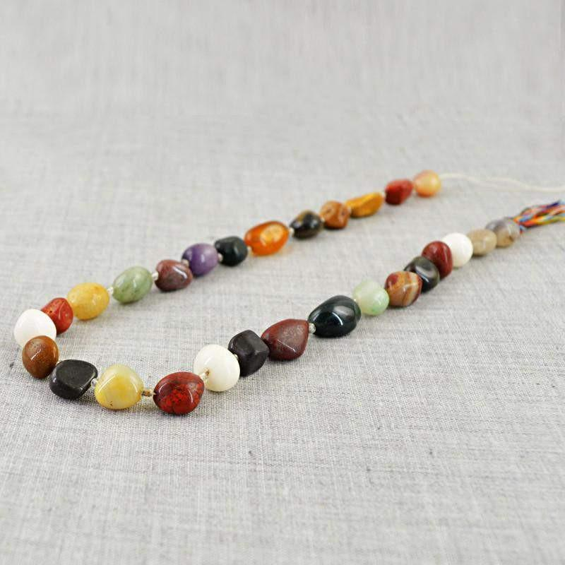 gemsmore:Natural Unheated Drilled Multicolor Multi Gemstone Beads Strand