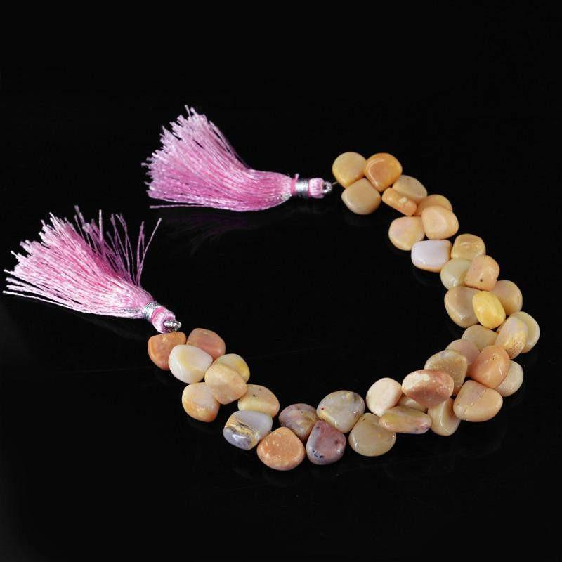 gemsmore:Natural Unheated Pink Australian Opal Beads Strand
