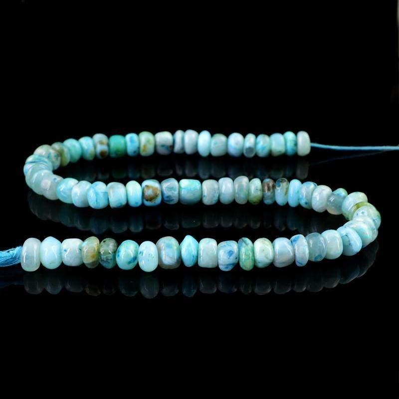gemsmore:Natural Unheated Round Shape Peruvian Opal Beads Strand