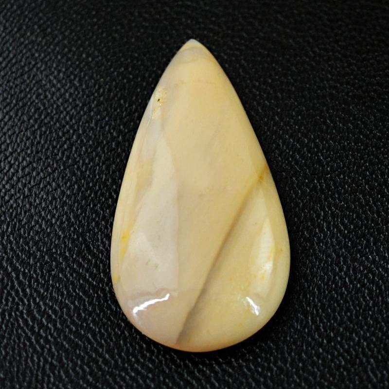 gemsmore:Natural Untreated Agate Pear Shape Loose Gemstone