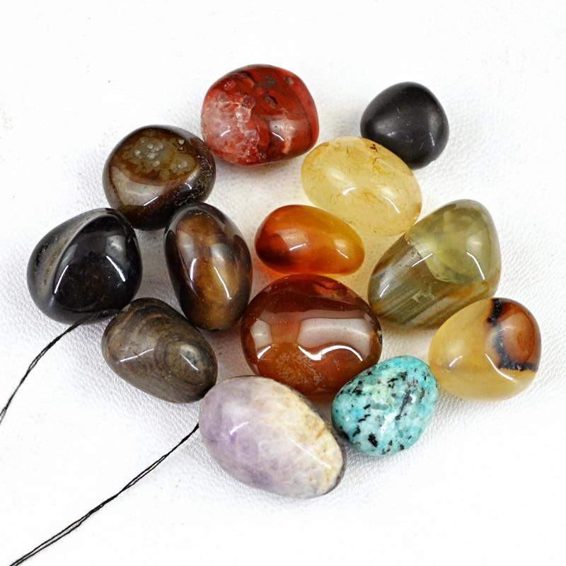 gemsmore:Natural Untreated Drilled Multicolor Multi Gemstone Beads Lot