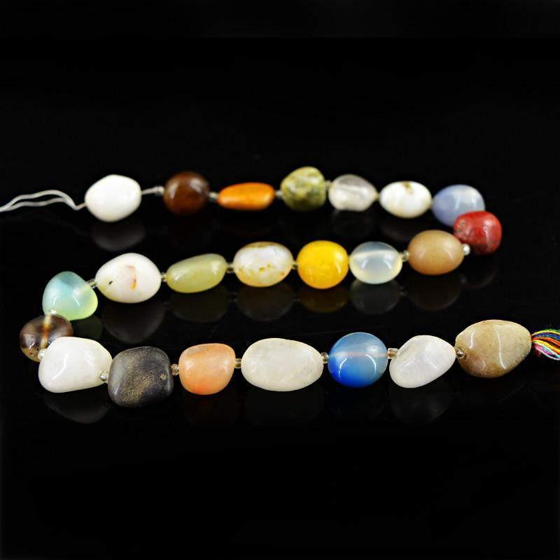 gemsmore:Natural Untreated Drilled Multicolor Multi Gemstone Beads Strand