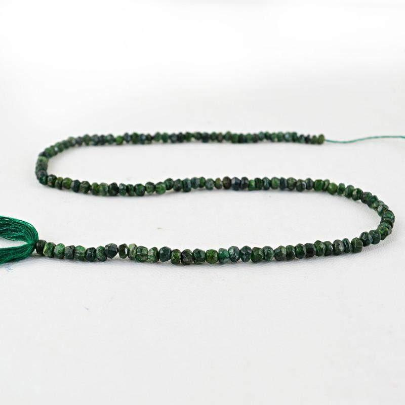 gemsmore:Natural Untreated Emerald Round Beads Strand