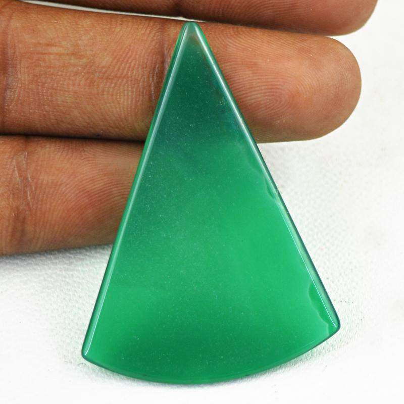 gemsmore:Natural Untreated Green Onyx Loose Gemstone